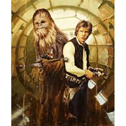 Star Wars Han and Chewie by Christopher Clark Canvas Giclee Art Print