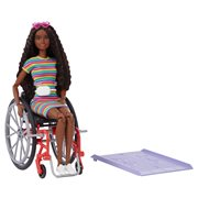 Barbie Fashionista Doll #166 with Wheelchair and Crimped Brunette Hair