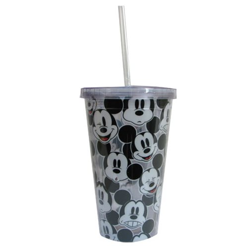 Mickey Mouse Faces 16 oz. Plastic Travel Cup