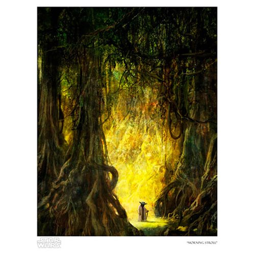 Star Wars Morning Stroll by Cliff Cramp Paper Giclee Art Print