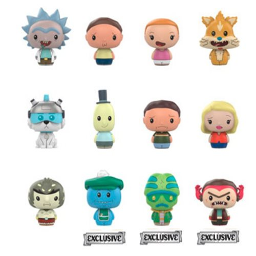 Rick and Morty Pint Size Hero Display Case - Exclusive