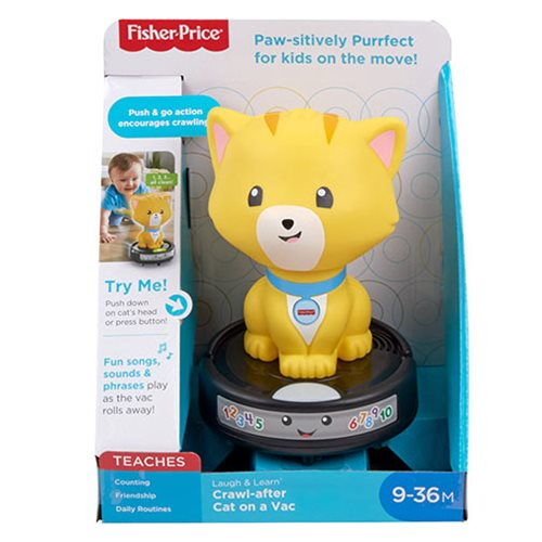 Fisher-Price Laugh & Learn Crawl-after Cat on a Vac