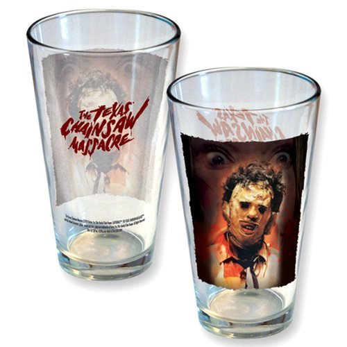 Texas Chainsaw Massacre Leatherface Close Up Pint Glass