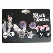 Black Butler 6-Pack Stud Earring Set