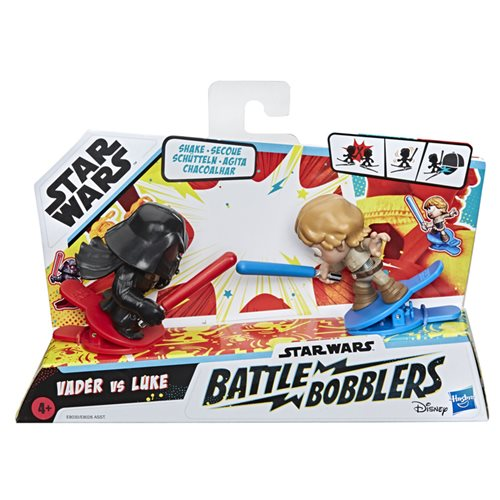 Star Wars Battle Bobblers Showdowns Luke Skywalker vs. Darth Vader Bobble Heads