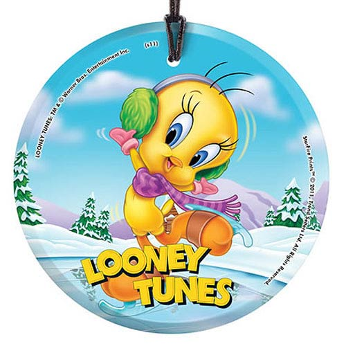 Looney Tunes Tweety Skating StarFire Prints Hanging Glass Print