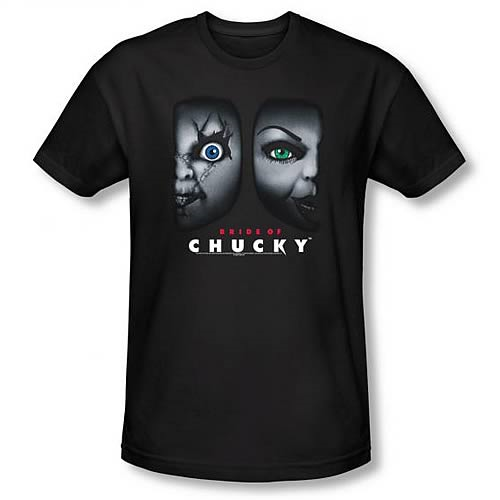 Child's Play Bride of Chucky Happy Couple Black T-Shirt