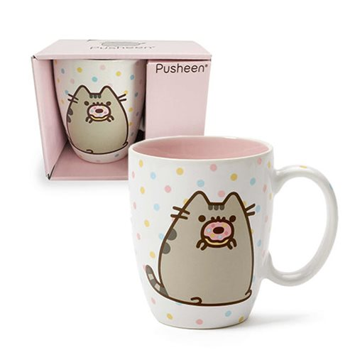 Pusheen the Cat Pusheen with Donut 12 oz. Mug
