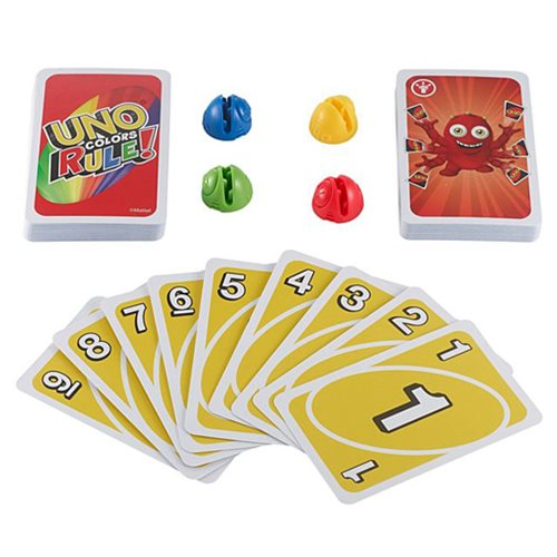 Uno Colors Rule Card Game