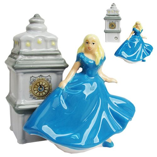 Cinderella Live Action Movie When The Clock Strikes Midnight Salt and Pepper Shakers