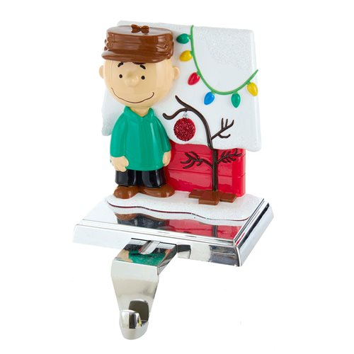 Peanuts Charlie Brown and Doghouse 5-Inch Stocking Holder