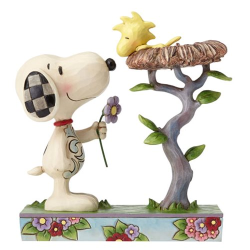 Peanuts Jim Shore Snoopy with Woodstock in Nest Statue