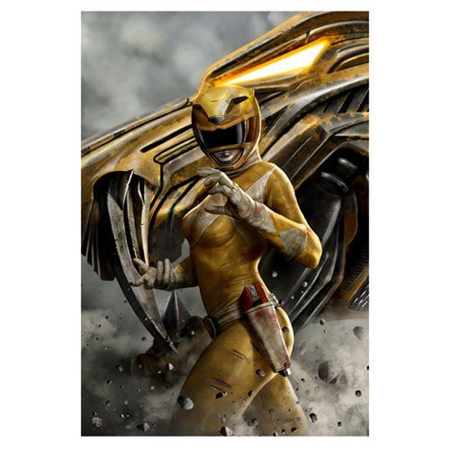 Mighty Morphin' Power Rangers Yellow Ranger by Carlos Dattoli Canvas Giclee Art Print