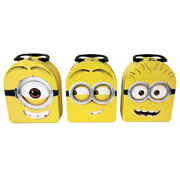 Despicable Me Minion Head Tin Tote Carry All Lunch Box Set