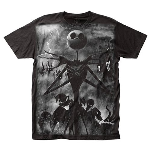 Nightmare Before Christmas Rainstorm T-Shirt