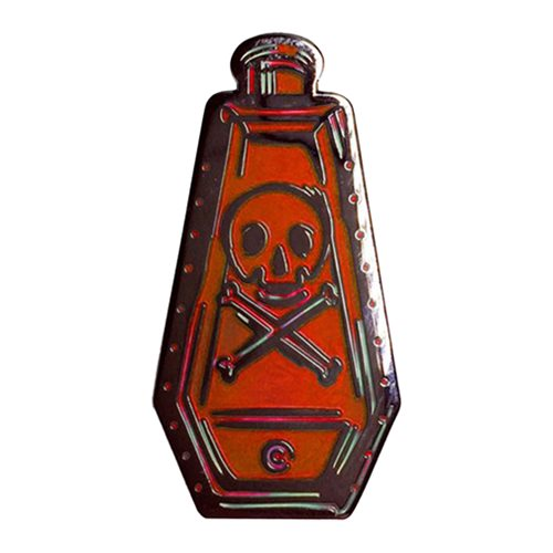 Ars Moriendi Red Poison Bottle Enamel Pin