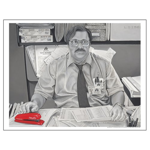Office Space Milton Waddams by Damien Friesz Paper Giclee Art Print