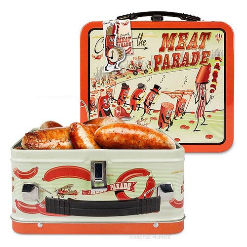 Meat Parade Tin Tote Lunch Box