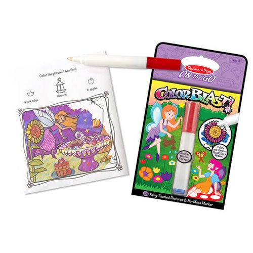 Melissa & Doug Fairies On the Go Color Blast No-Mess Coloring Pad