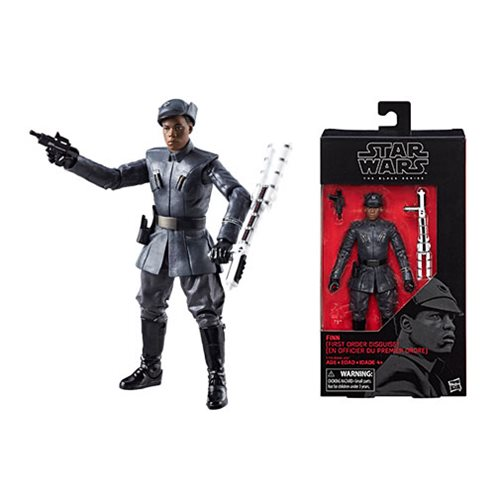 Star Wars The Black Series Finn First Order Disguise 6-Inch Action Figure, Not Mint