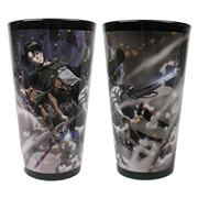 Attack on Titan Levi in the Wind Pint Glass