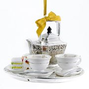 Downton Abbey Teapot Set 4-Inch Ornament