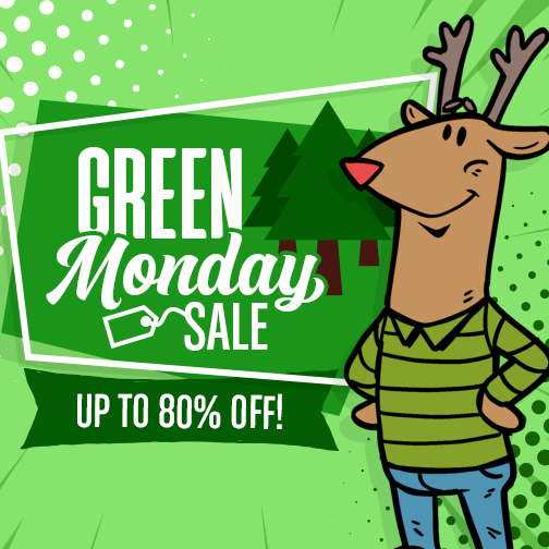 Green Monday Sale 2019 Up to 80% Off!