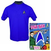 Star Trek: The Original Series Sciences Blue Retro Starfleet Uniform T-Shirt
