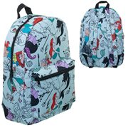 The Little Mermaid Print Blue Backpack