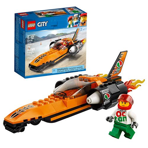 LEGO City Great Vehicles 60178 Speed Record Car