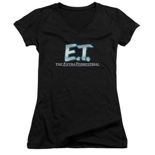 E.T. Logo Juniors V-Neck T-Shirt