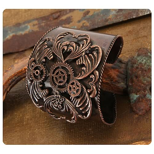 Steampunk Antique Copper Cuff