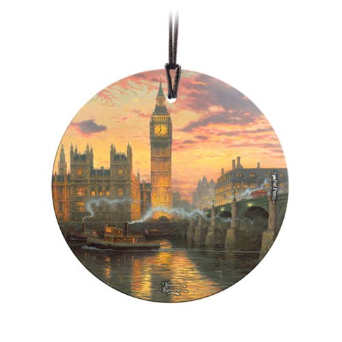 Thomas Kinkade London StarFire Prints Hanging Glass Ornament