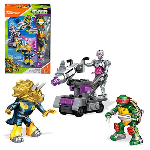 Mega Construx Teenage Mutant Ninja Turtles Raph Dimension X Battle Playset