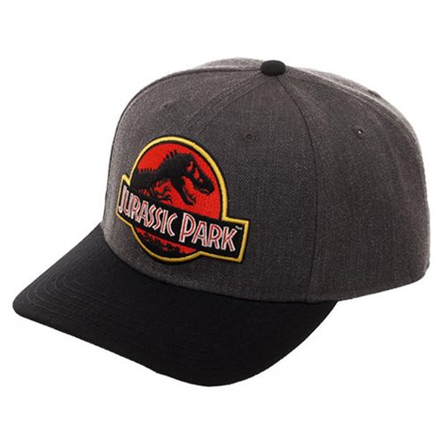2eed22df04c Jurassic Park Logo Curved Snapback Hat - Entertainment Earth