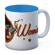 DC Universe Bombshells Wonder Woman Chain White-Blue Ceramic Mug