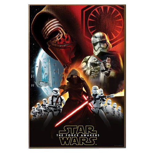 Star Wars: Episode VII - The Force Awakens Kylo Ren with Stormtroopers Wood Wall Art