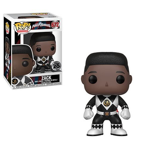 Power Rangers Black Ranger No Helmet Pop! Vinyl Figure #672