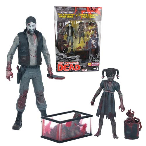 Walking Dead Comic Series 2 Black and White Bloody Governor and Penny Previews Exclusive Action Figure 2-Pack