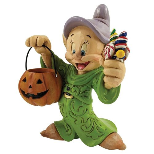 Disney Traditions Snow White and the Seven Dwarfs Dopey Halloween with Pumpkin Cheerful Candy Collec