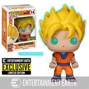 Dragon Ball Z Glow-in-the-Dark Super Saiyan Goku Pop! Vinyl Figure - Entertainment Earth Exclusive, Not Mint