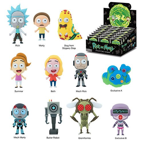 Rick and Morty 3D Figural Key Chain Display Case