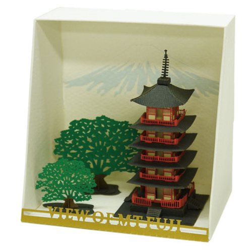 Five Storied Pagoda Paper Nano Model Kit