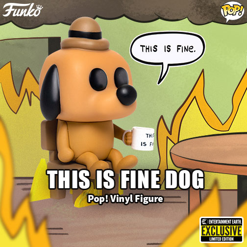 Funko This Is Fine Dog NYCC Exclusive 2020