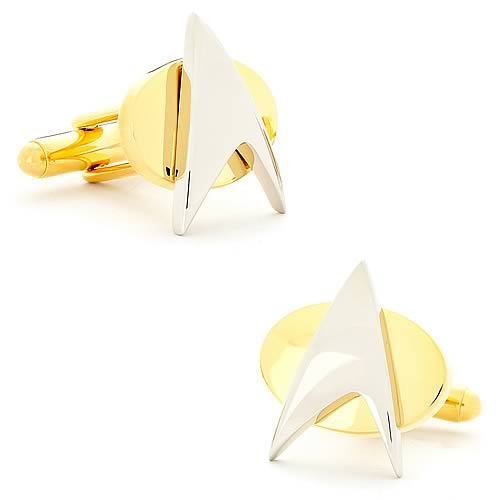 Star Trek Two Tone Delta Shield Cufflinks