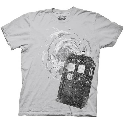 Doctor Who Distressed Tardis T-Shirt
