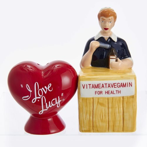 I Love Lucy Logo and Vitameatavegamin Salt and Pepper Shaker Set