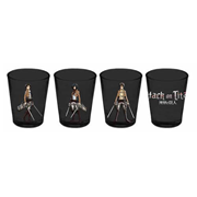 Attack on Titan Characters with Swords Shot Glass 4-Pack