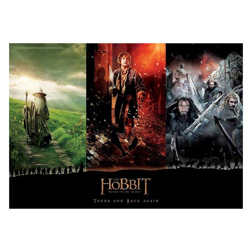 The Hobbit Trilogy There and Back Again MightyPrint Wall Art Print