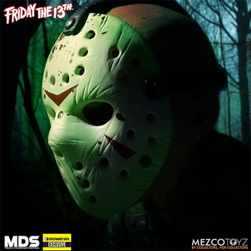 Friday the 13th Bloody Jason Voorhees Glow-in-the-Dark Mask Stylized Action Figure - Entertainment E
